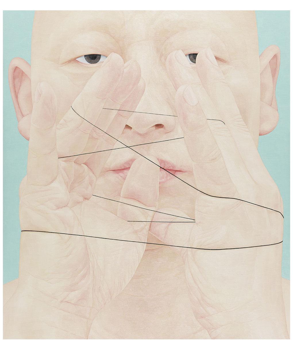 한 사람으로서의 자화상- 실 150cm x 130cm Oil on canvas 2017.jpg