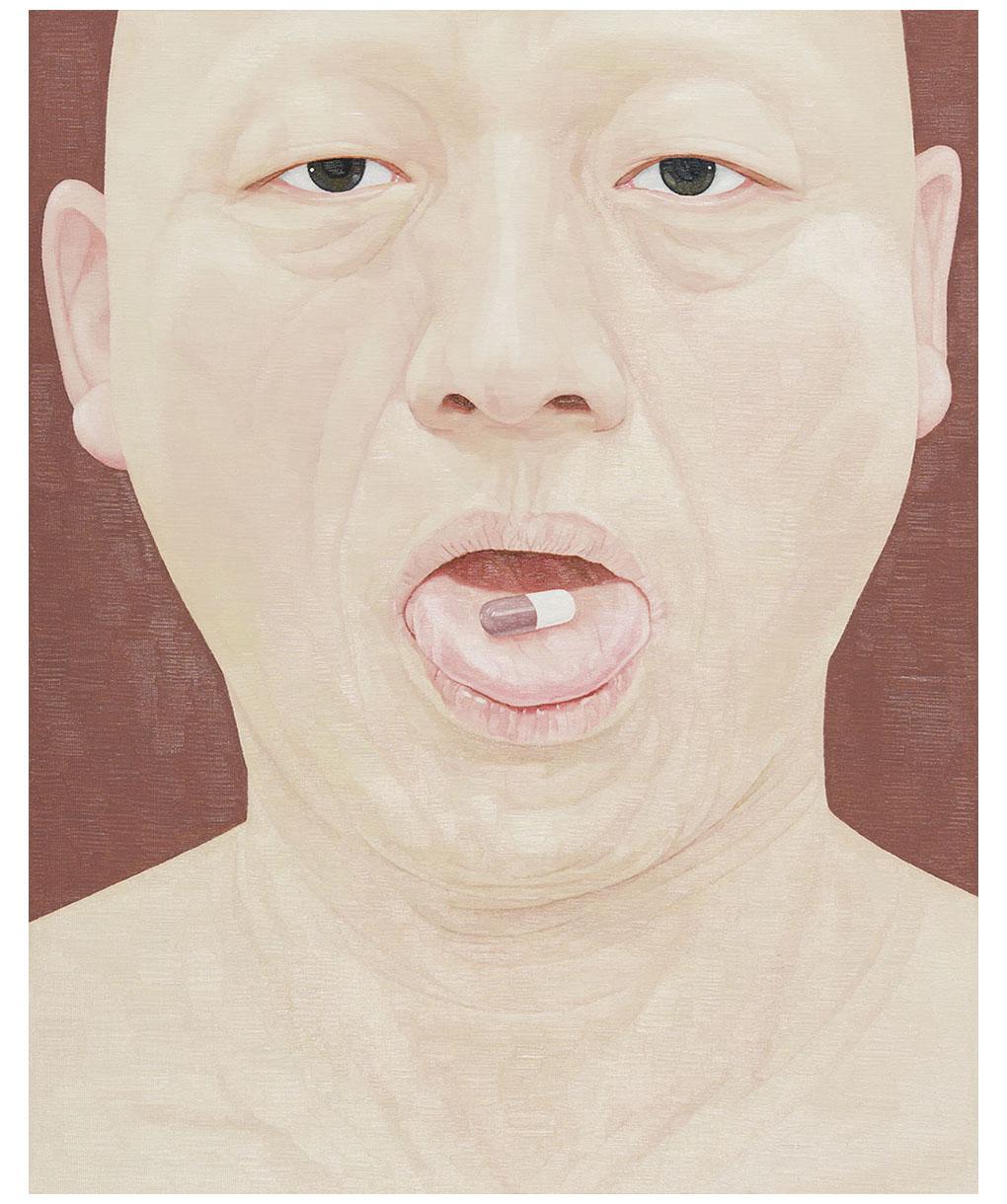 한 사람으로서의 자화상- 캡슐 90.9cm x 72.7cm Oil on canvas 2017.jpg